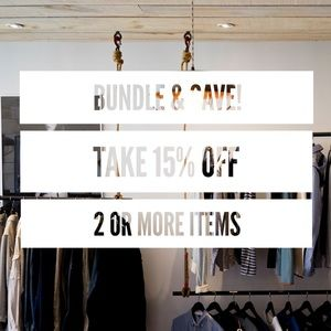 15% OFF BUNDLES OF 2 OR MORE ITEMS!!